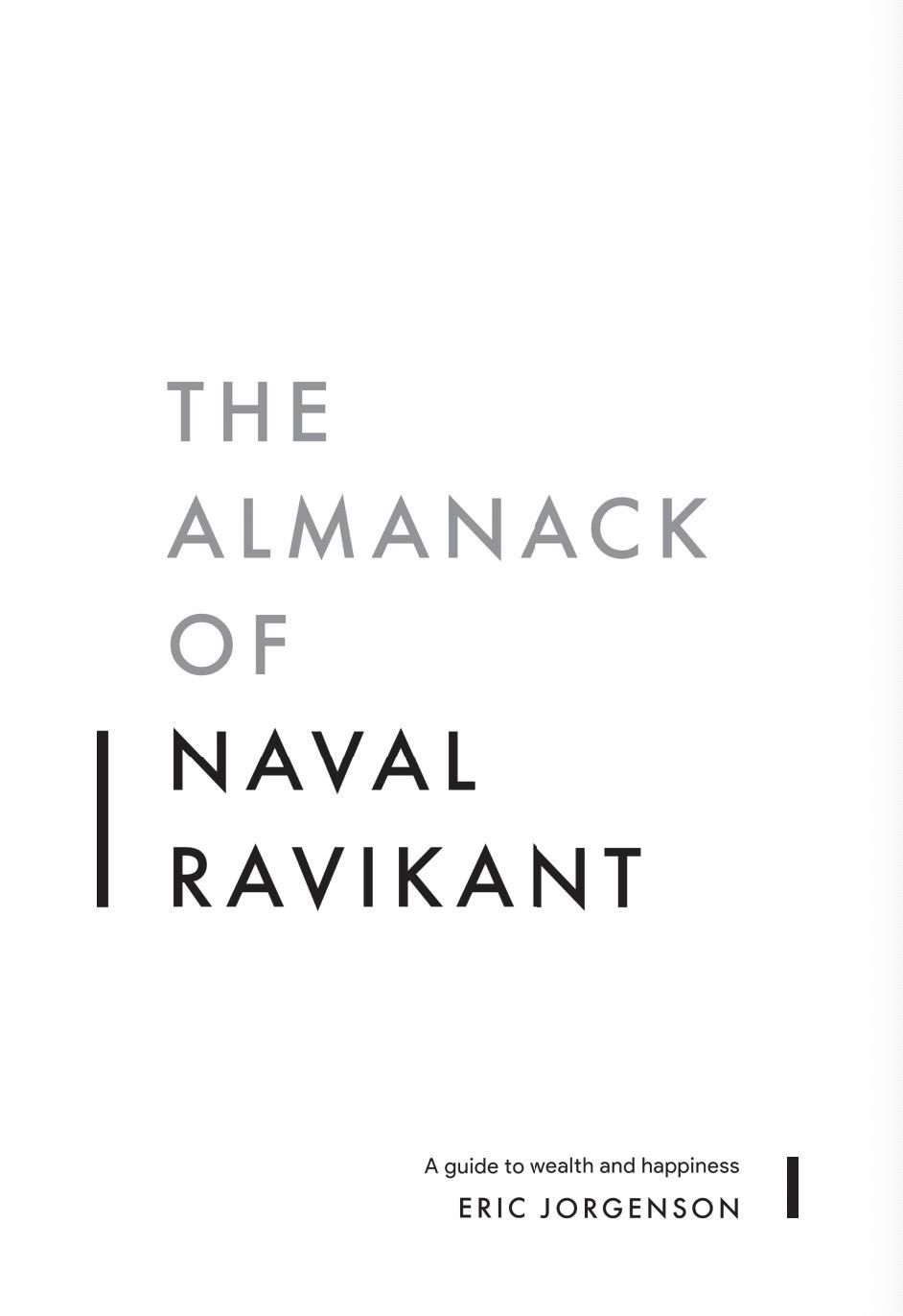 Almanack of Naval Ravikant